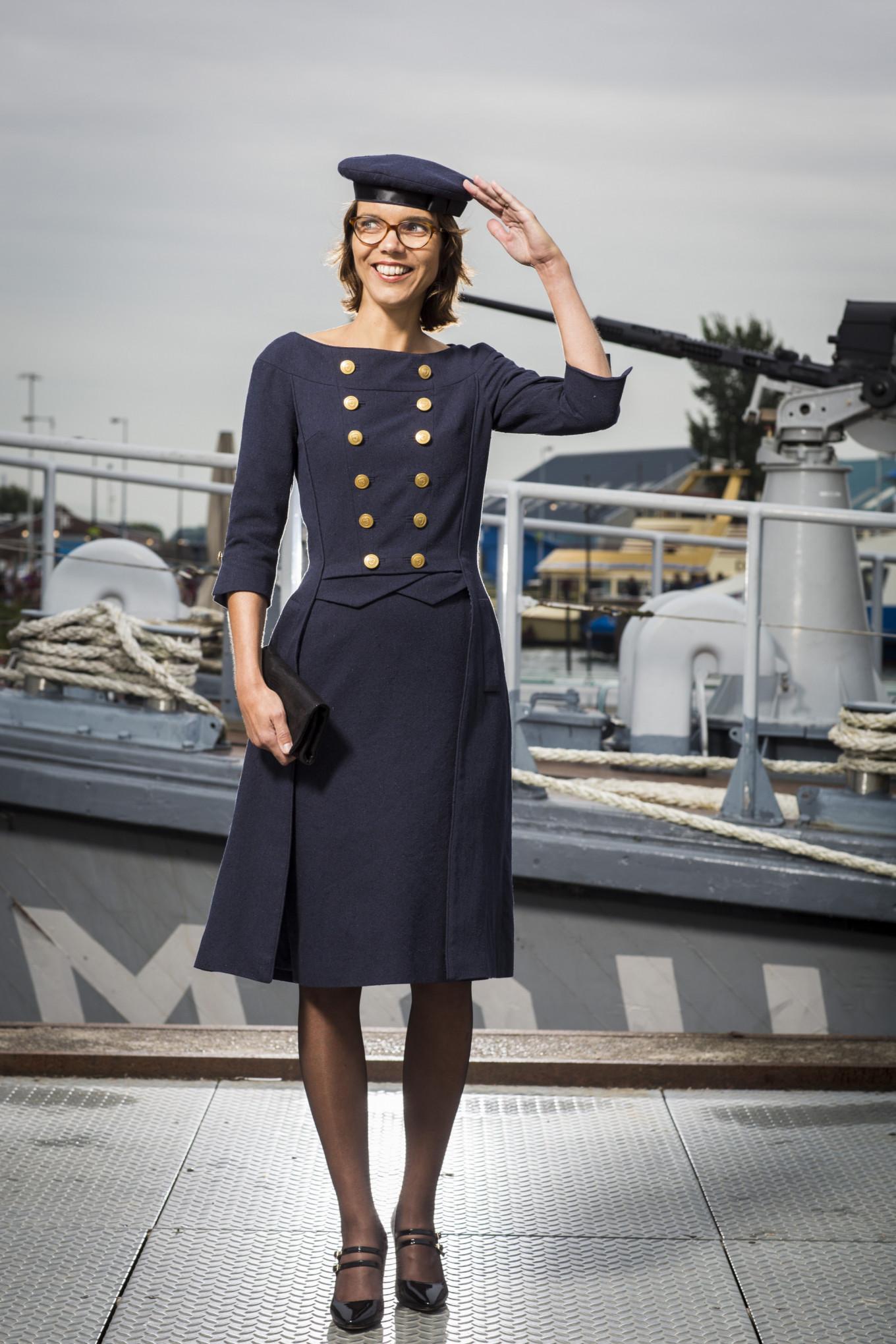 Carla Dik-Faber in haar geupcyclede prinsjesdag outfit.